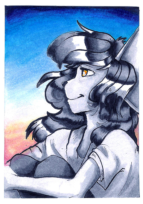 Most recent image: ACEO - Morning