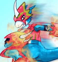 Digital dragon flames