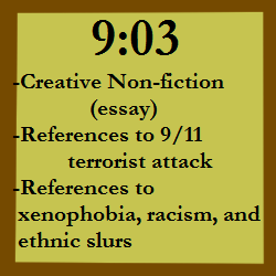 9:03 (Creative Non-Fiction, Essay)