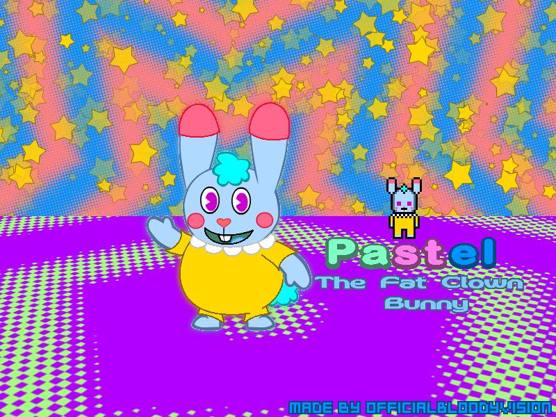 Pastel The Clown Bunny