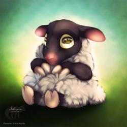 Chibi Silver Sheep by Silvixen