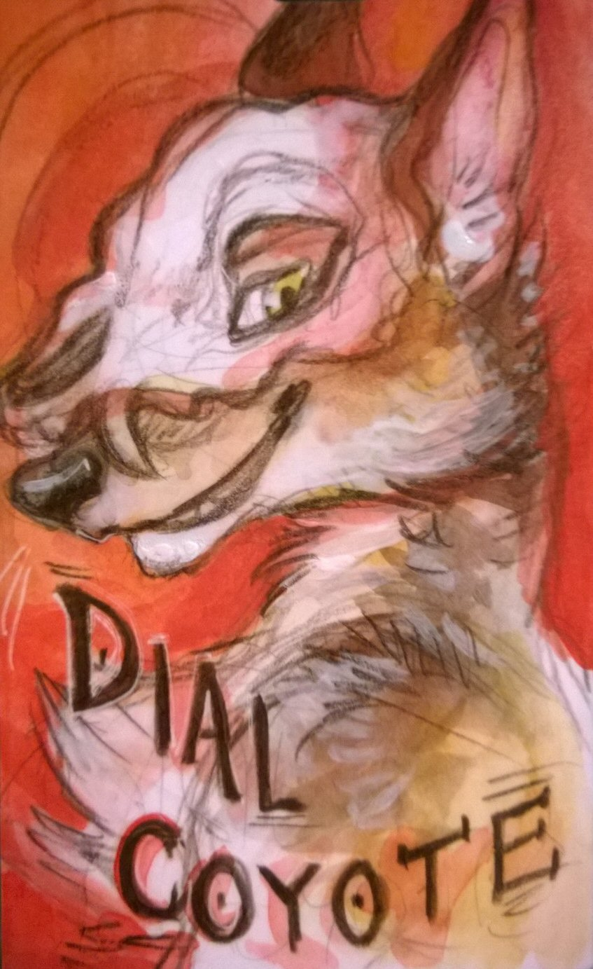 "Featured image: Dial Coyote (badge ""by skulldog"")"
