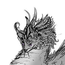 Rhoswhen - Corrupted Fae Dragon character concept