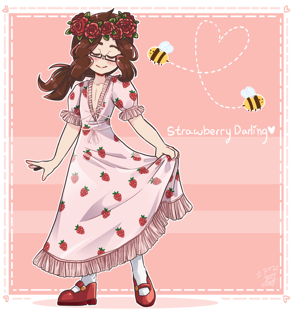 strawberry dress quinn