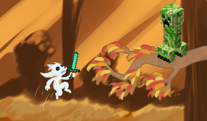 Ori Fights A Creeper In Wellspring Glade