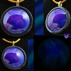 Purple and Blue Large Round ~Gold Satin~