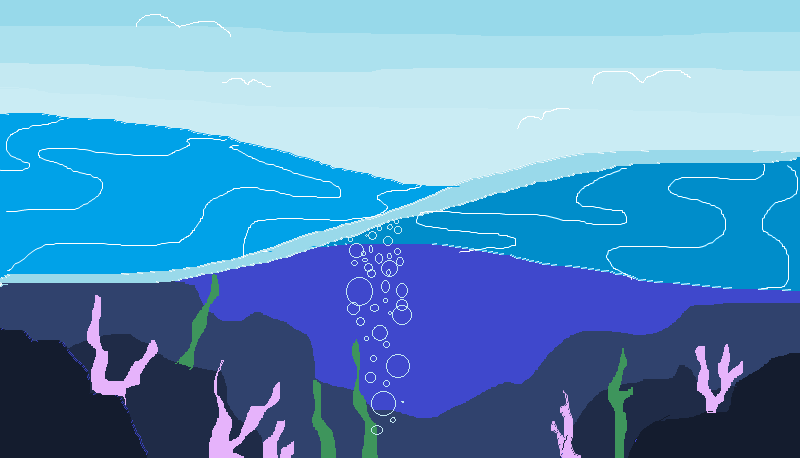 through the wave PIXEL