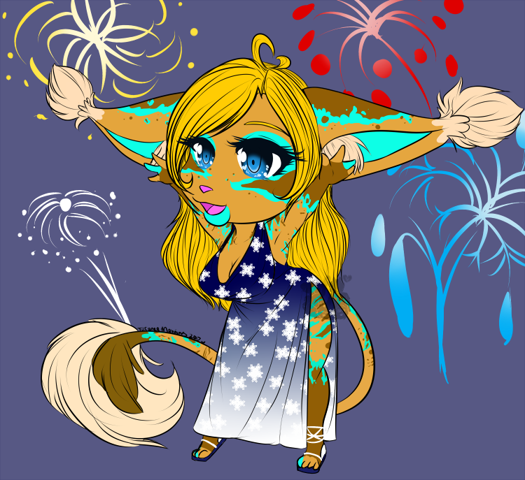 Fireworks and Snowflakes [Commission]