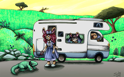 rabbits on vacation