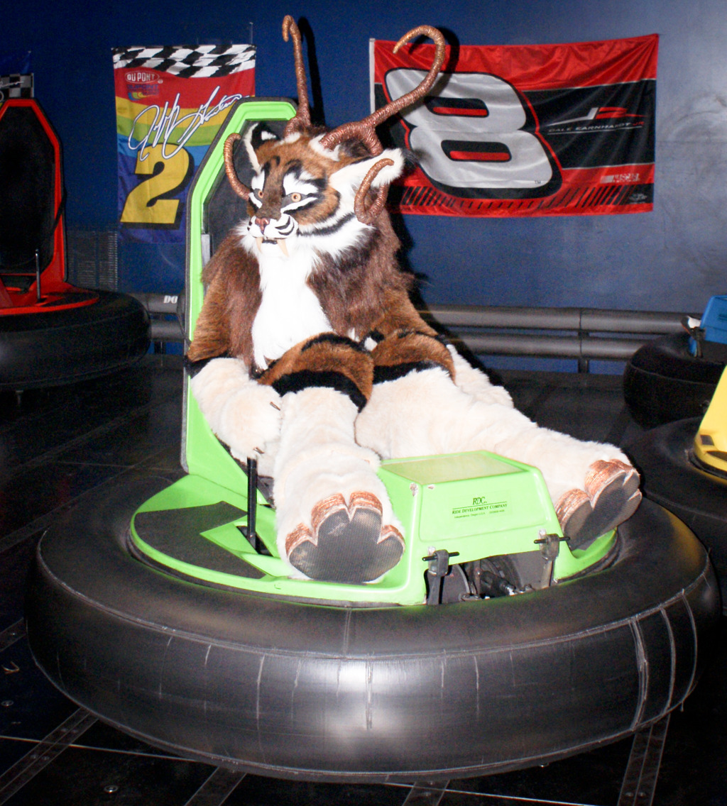 New Years Even Party 2011 - Keeatah in a Bumper Car
