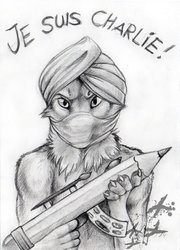 May the pencil be with you - je suis charlie !!