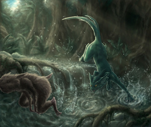 Chasing prey