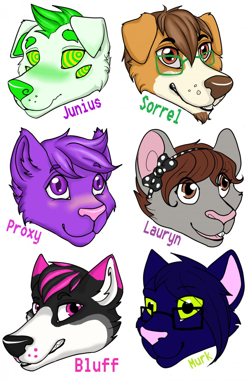 Cheap Headshot Badges! Still open for commissions!