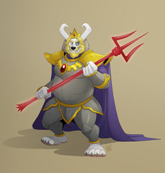 Asgore-Barnaby in Armor by FurryBob