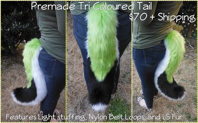 [PM] Lime Green Tri Coloured Tail