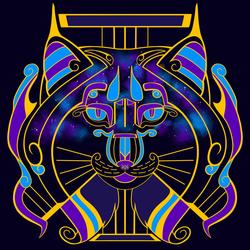 Galaxy Cats - Lyra Lynx (Cool Purple Galaxy)