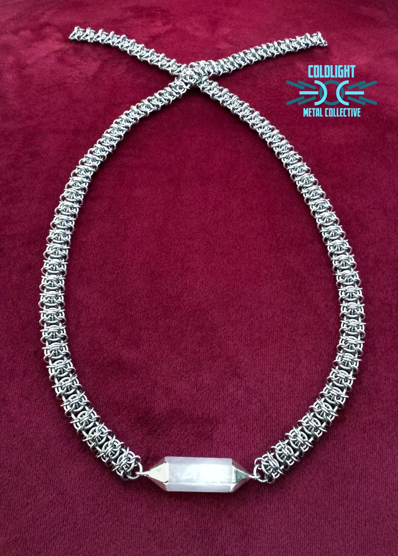 Sprite Chain Necklace with Quartz Pendant