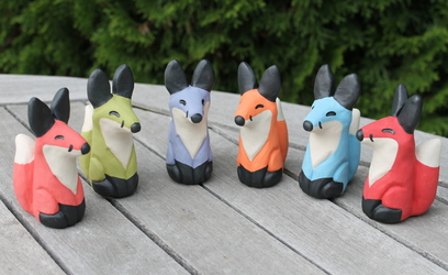Lucky Fox Statues