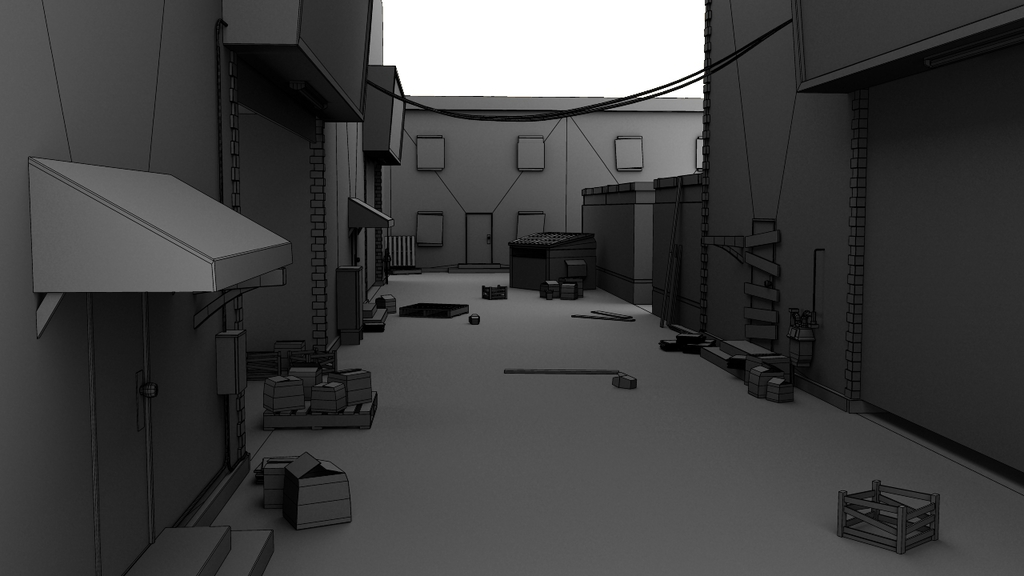 Alley 2 - Wireframe