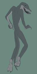 Oh hey I drew a black mamba guy v2
