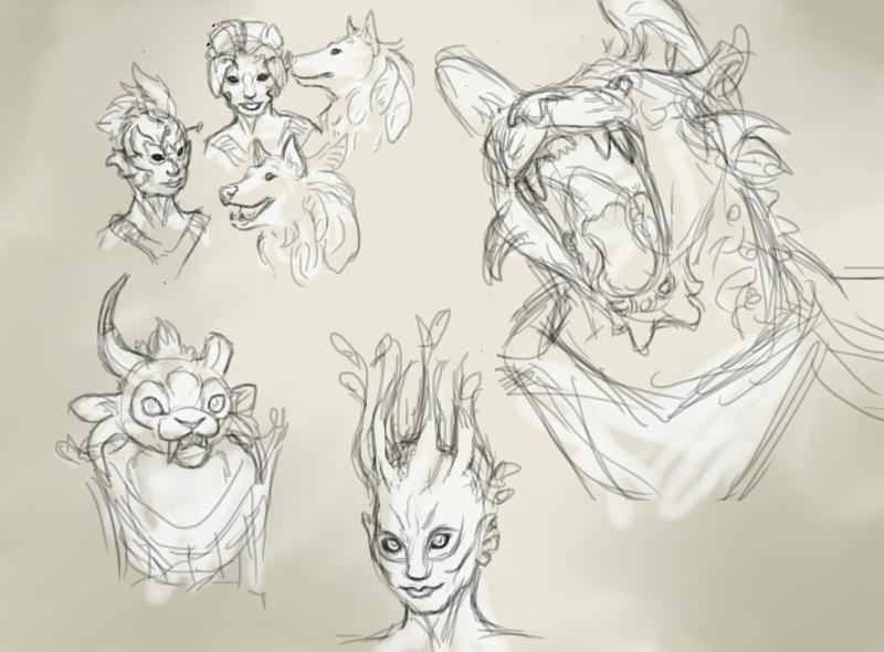GW2-themed Page O' Sketch