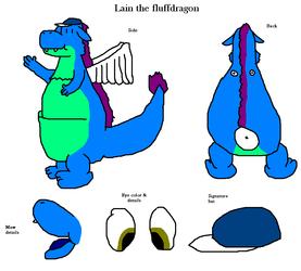 Lain the fluffdragon