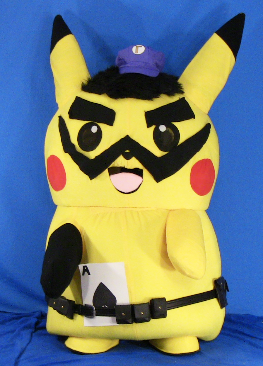 "Ace Spade the Pikachu's ""Waluigi Cosplay"" (Mascot Suit) [With Video Link]"