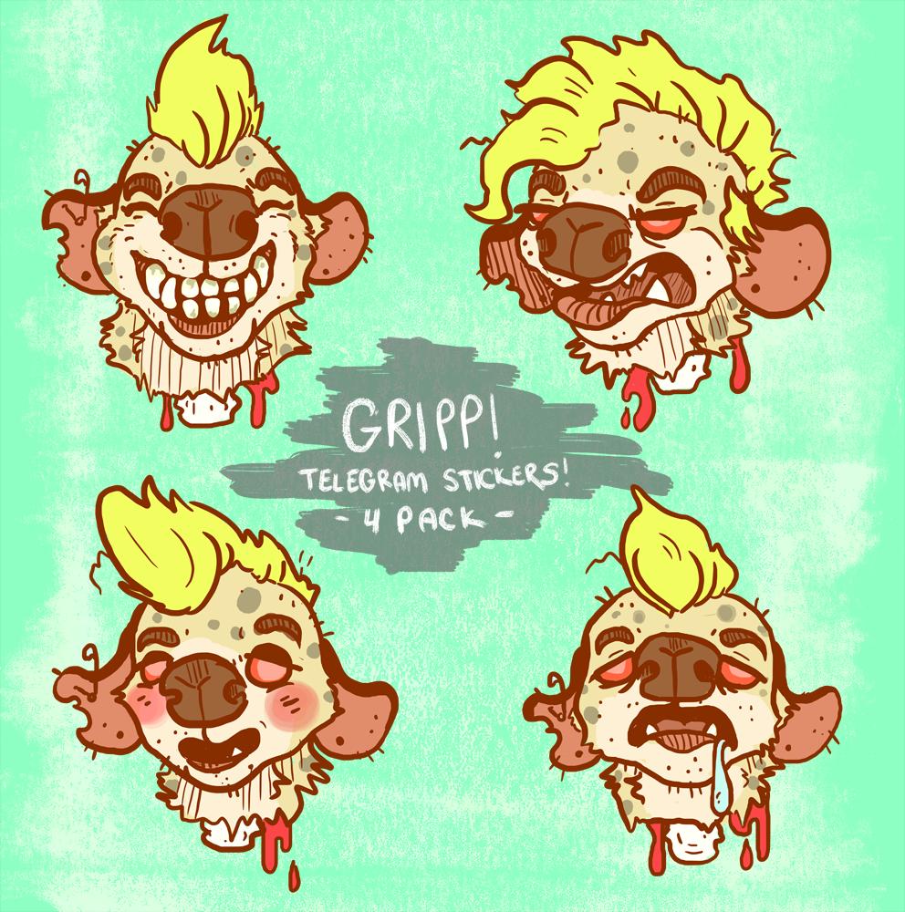 gripp telegram sticker pack