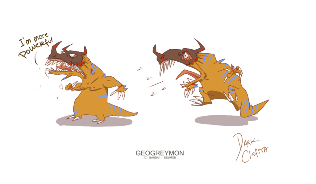 Derpymon - Geogreymon