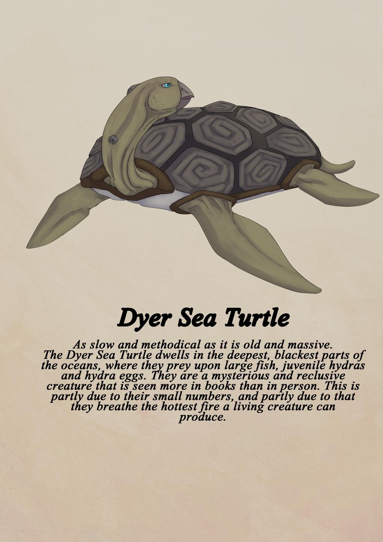 Dyer sea turtle