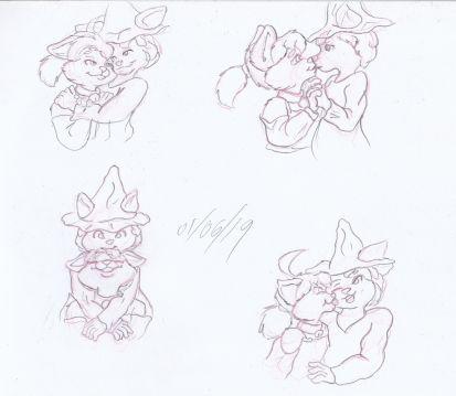 Midori vday sketches