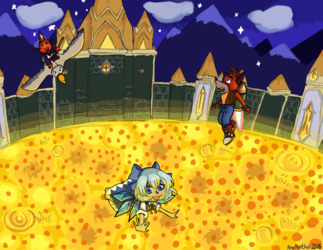 Cirno vs. Ripto vs. Crash
