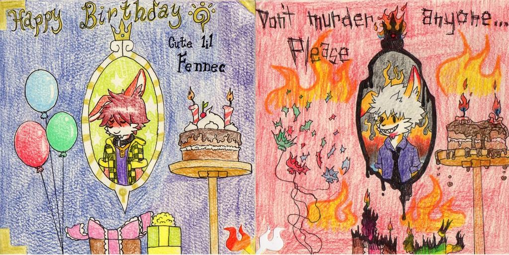 Fennec Birthday card
