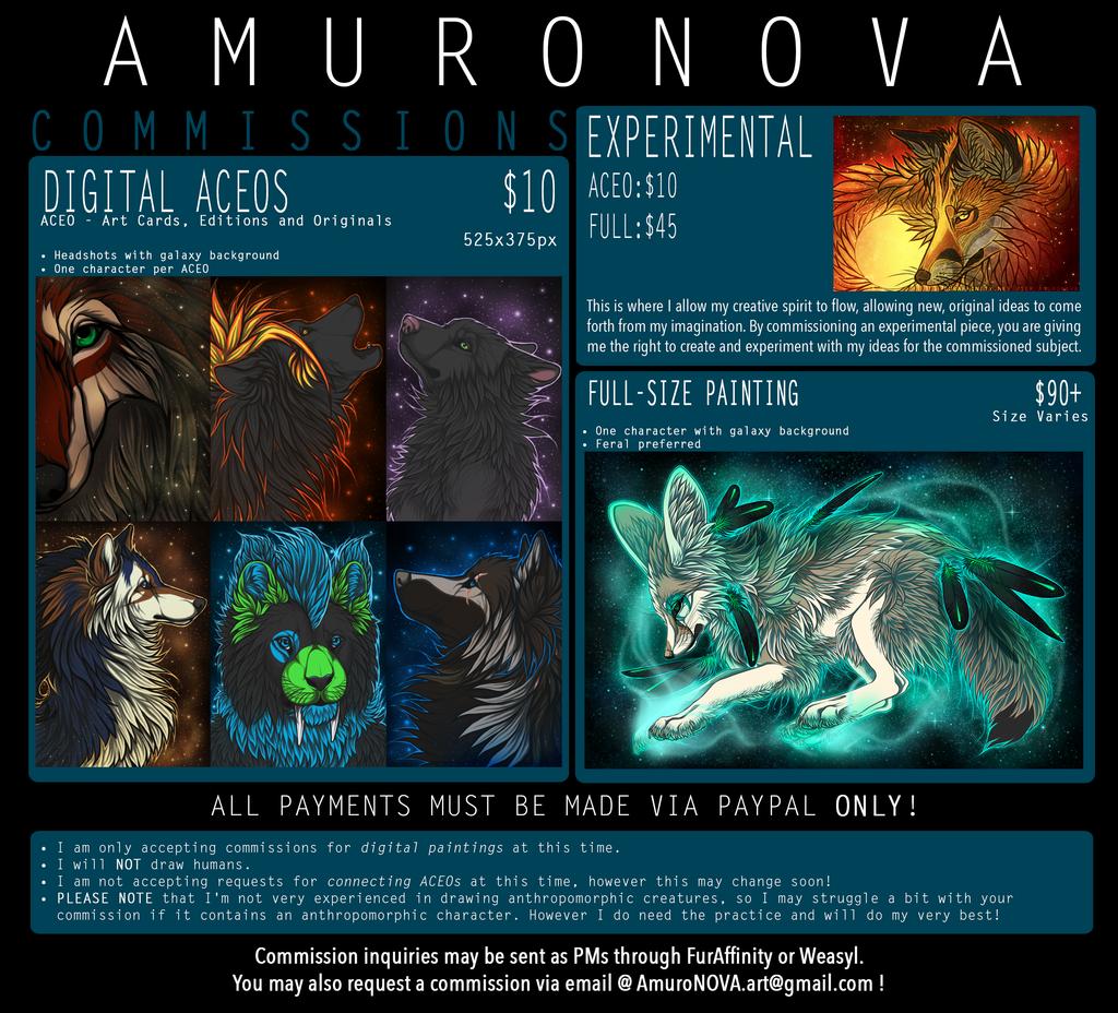 Most recent image: AmuroNOVA Commissions - closed closed closed