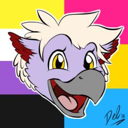 Pride YCH Icon 2018 - Del Gryphon