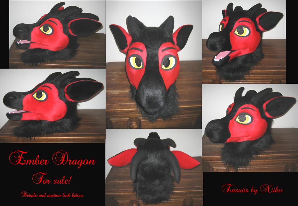 Most recent image: Ember Dragon fursuit head - FOR SALE!