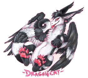 Dragoncat fullbody badge!