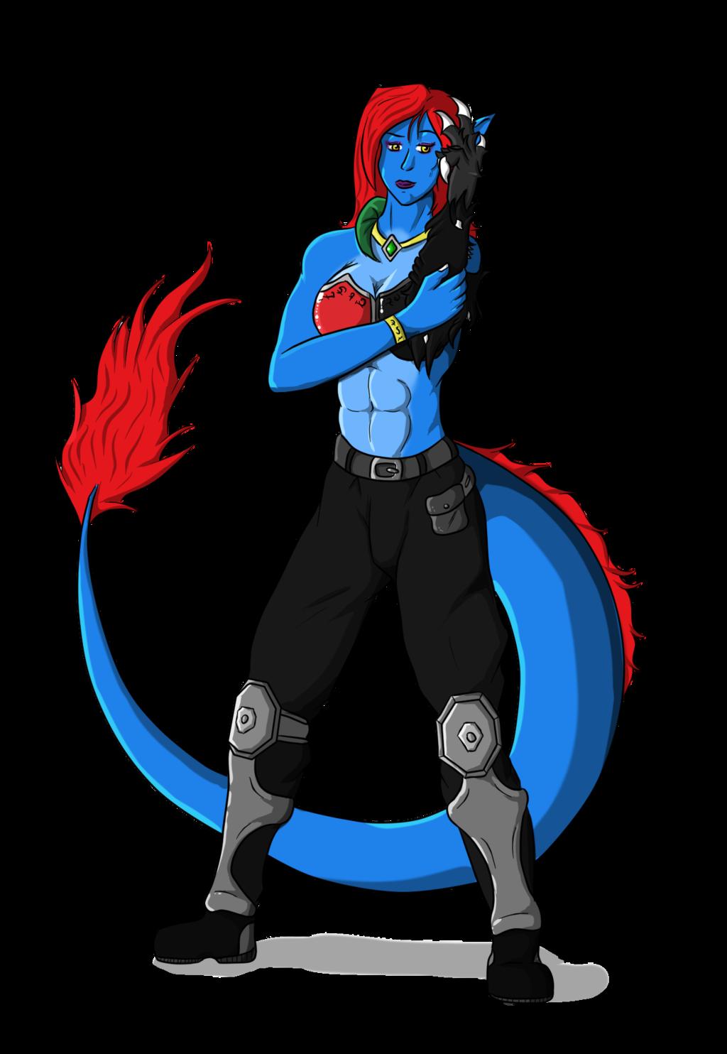 Kalinda in wrestling attire, by Foulfrost