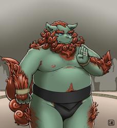 Komainu sumo wrestler