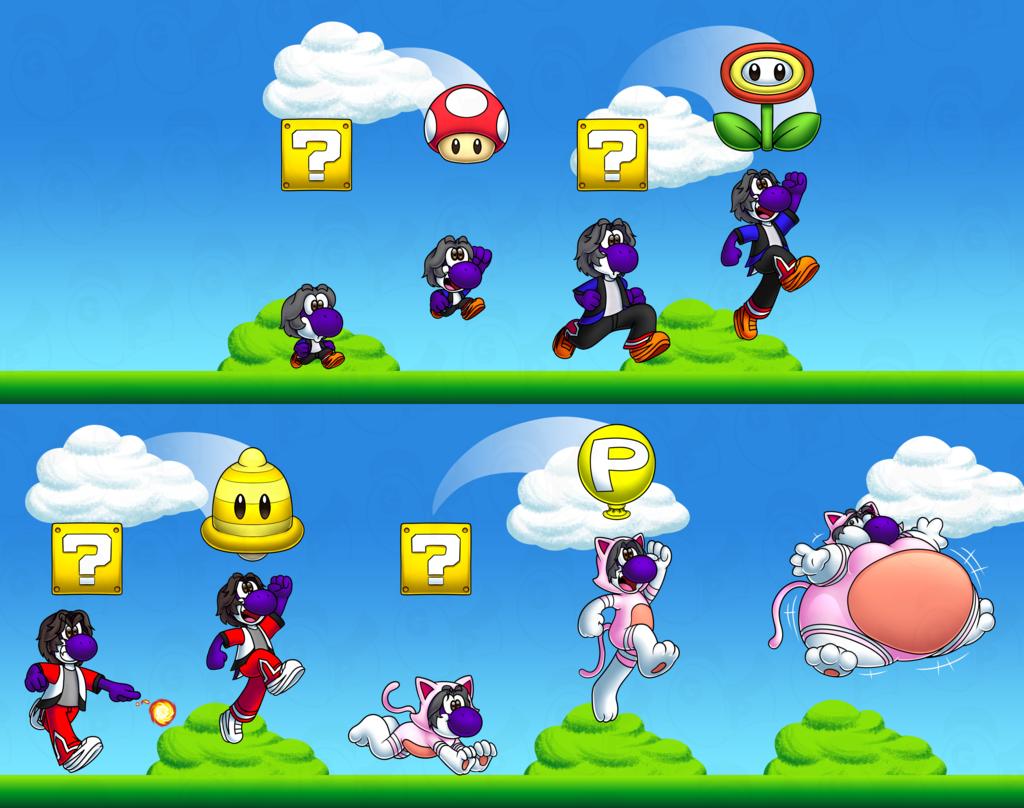 YoshiErnie Mario power-ups