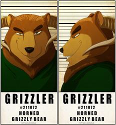 MugShot Badge - Grizzler