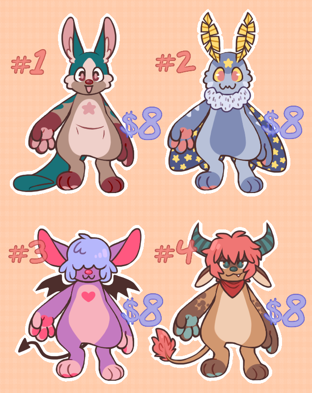 $8 mini adopts ! [CLOSED]