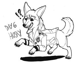 Inktober 2019 - Day 6: Husky