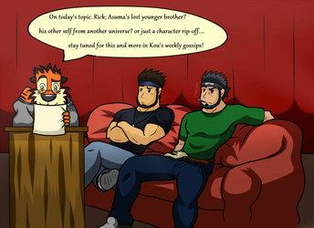 Kouya's interview: Rick vs Asuma