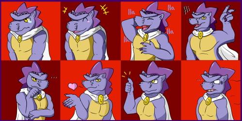 Vector the Sticker Dragon