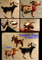 Screaming Goats Magnet Set