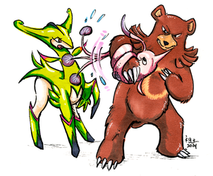 [shaded colour] RNG pokemon: virizion, gorebyss and ursaring