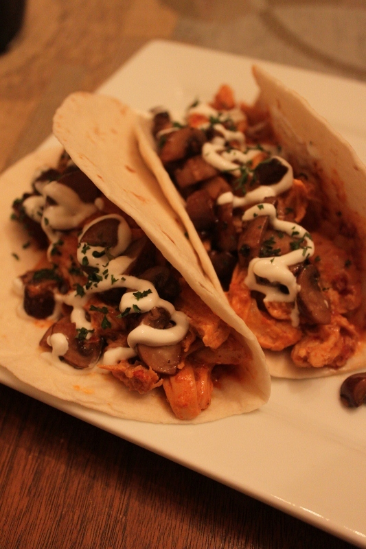Featured image: Chicken in Chipotle Cream Tacos