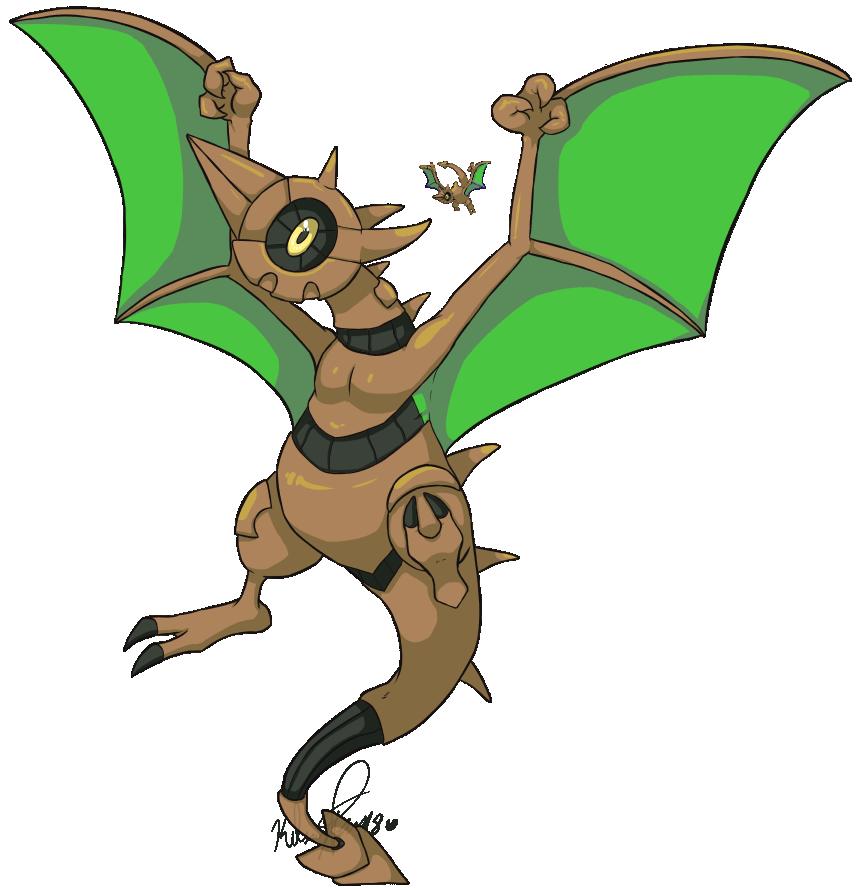 Pokemon Fusion: Lunadactyl