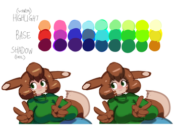 Curly Q Color Theory Illustration